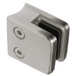 Square Glass Clamp For Round Newel Post